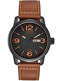 Mens Eco-Drive Stainless Steel Watch with Day/Date, BM8475-26E