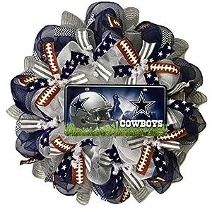 Dallas Cowboys Football Sports Wreath Handmade Deco Mesh 70