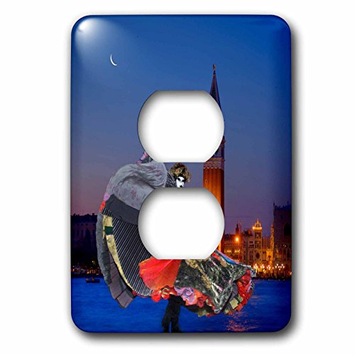 3dRose Danita Delimont - Venice Carnival - Italy, Venice. Composite of woman in costume and San Marco Square. - Light Switch Covers - 2 plug outlet cover - Marcos The San Outlets