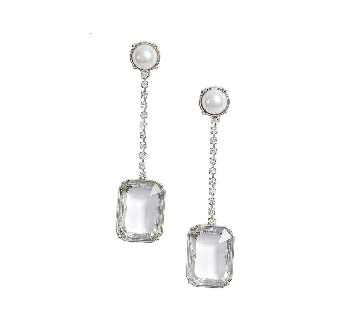 a4e72845351c Amazon.com  SOMETIN Linear Stone Drop Earrings  Jewelry