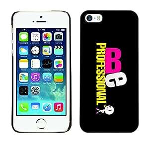 TopCaseStore / la caja del caucho duro de la cubierta de protección de la piel - Be Professional - Apple iPhone 5 / 5S