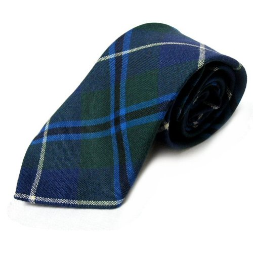 New Douglas Tartan Tie 100% Wool - Made in Scotland (Douglas Wool 100%)