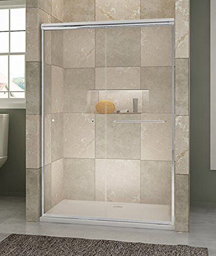 Sunny Shower B020 Frameless Bypass Sliding Shower Doors 14 Clear