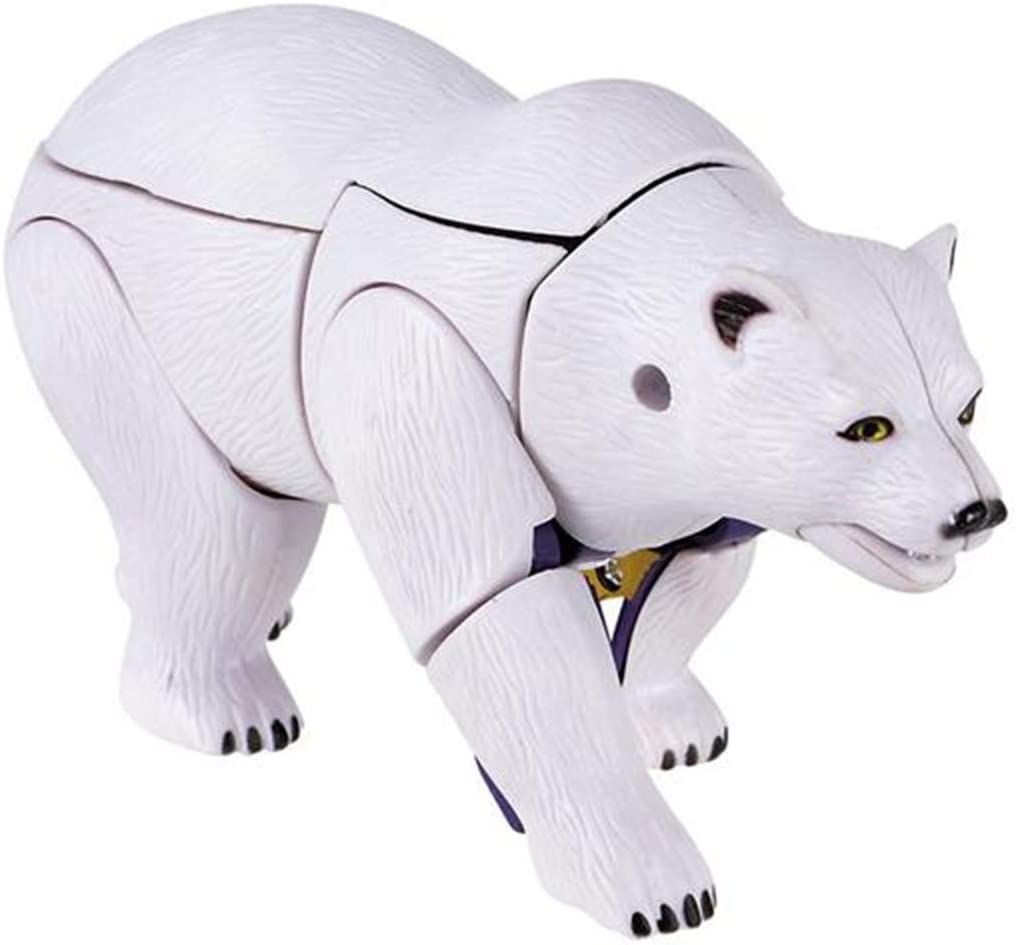 Forest & Twelfth Jungle Animal Toys – Transforming Action Figure – Changes from a Detailed Animal Toy to a Unique Robot Toy in Seconds – Great Gift for Both Girls and Boys (Polar Bear)