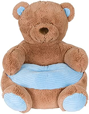 Surprising Kelly Toy Soft Plush Teddy Bear Childrens Chair With Blue Corduroy Trim 18In Pabps2019 Chair Design Images Pabps2019Com