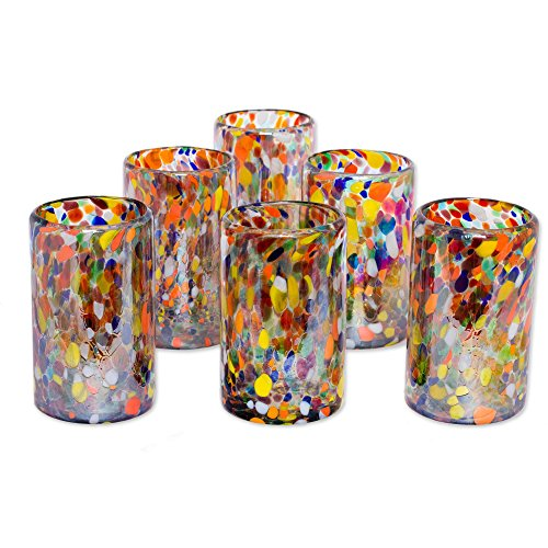 Blown Glass Drinking Glasses - 7