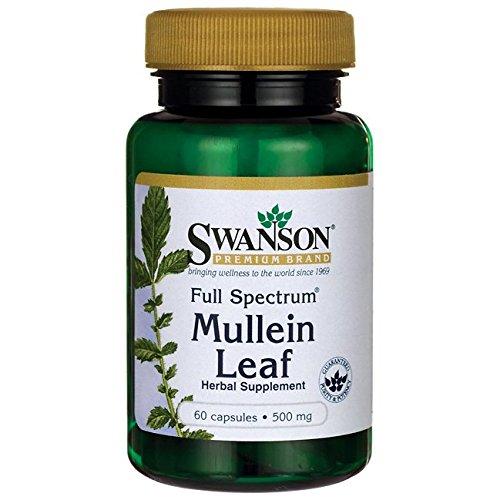 Swanson Full Spectrum Mullein Leaf 500 Milligrams 60 Capsules For Sale