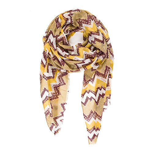 Scarf for Women Lightweight Wave Design Fashion Fall Winter Scarves Shawl Wraps by Melifluos (NF36-15)