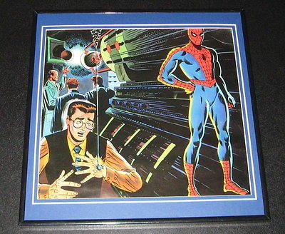 Amazing Spiderman Peter Parker Bit Original Framed 1978 Marvel Poster 12x12