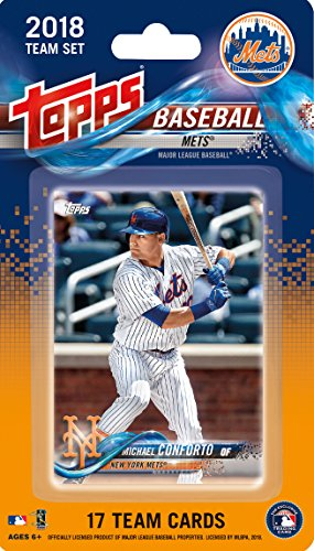 New York Mets 2018 Topps Factory Sealed Special Edition 17 Card Team Set with Michael Conforto, Noah Syndergaard and Yoenis Cespedes Plus