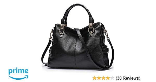 Amazon.com  Womens Genuine Leather Handbag Urban Style Satchel Tote Bag  Vintage Shoulder Top-Handle Crossbody Handbags Large Capacity  Shoes 16cc5d5b72c62