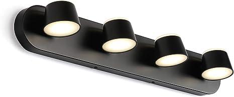 Led Bathroom Lighting Fixtures Over Mirror 4 Head Vanity Light With Up Down Acrylic Lampshade4000k Daylight Indoor Wall Sconce 4 Lights Amazon Com