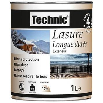 Lasure Chne Fonc Satin Litre  Technic AmazonFr Bricolage