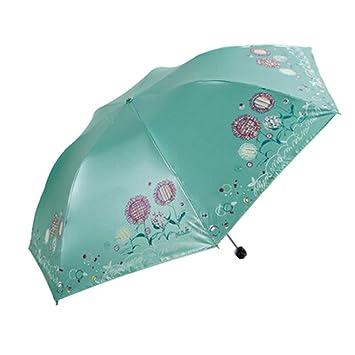 Asiatische Sonnenschirme , Tragen Sie Sonnenschirm Dandelion Pact Convenient Green Umbrella