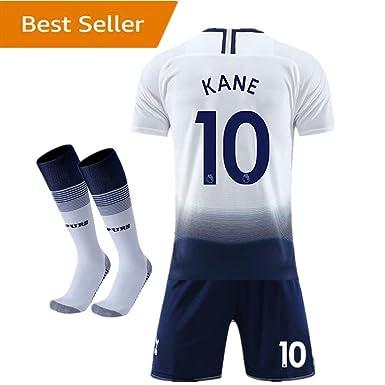 f61ef2fa6 2018-2019 Tottenham Hotspur  10 Kane Home Kids Youth White Soccer Jersey    Shorts