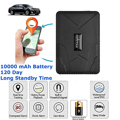 Car Gps Tracker Strong Magnetic Gps Locator Tracking Device Free APP Real Time Personal with  Geo-fence Anti-lost for Cars SUVs Motorcycles Trucks Vehicles Boats
