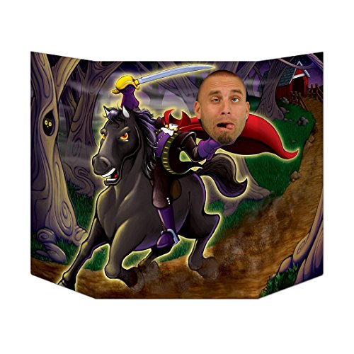 Party Central Pack of 6 Halloween Riding Headless Horseman Photo Prop Decoration 37