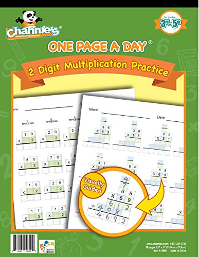 Channie#039s One Page A Day Workbook Double Digit Multiplication Math Practice Worksheets 50 Pages Grades 3rd 4th and 5th Size 85quot x 11quot