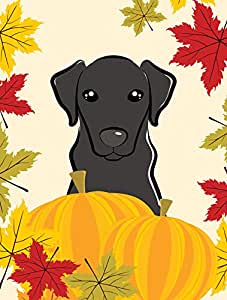Carolines Treasures BB2041GF Black Labrador Thanksgiving Flag Garden