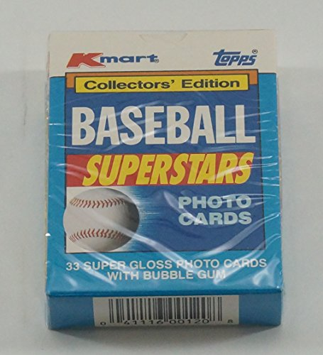 1990 Topps Kmart Collectors Edition Baseball Superstars Photo Cards Set