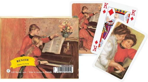 (Piatnik Renoir Piano Lesson Playing Cards)