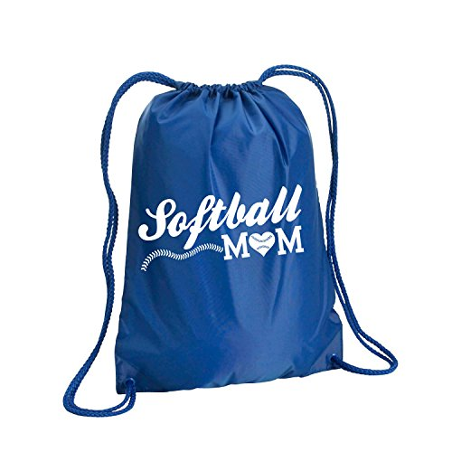 Softball Mom Cinch Pack in Royal - Small 14x18