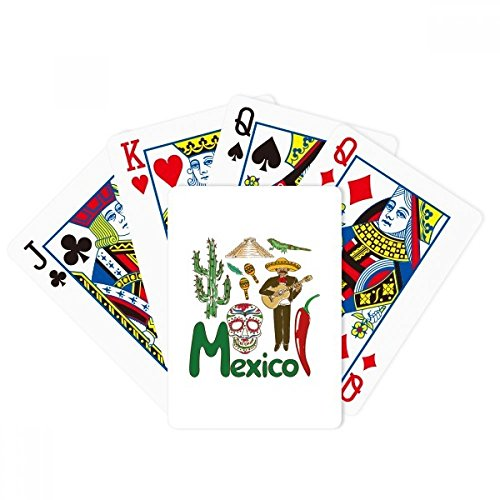 DIYthinker Mexico National Symbol Landmark Pattern Poker Playing Card Tabletop Board Game Gift