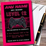 Video Game Gaming Girls Personalized Childrens Birthday Party Invitations