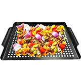 MEHE Grill Basket, Thicken Will not Warped, Nonstick Grilling Topper...