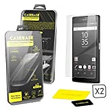 CaseBase® - SONY XPERIA Z5 COMPACT / MINI - Premium Tempered Glass Screen Protector TWIN PACK for Sony Xperia Z5 Compact / Mini ** DOUBLE GLASS ** 2 in 1
