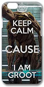 "2015 popular Keep Calm Cause Im Groot Case for iPhone 6 Plus 5.5"" 3D PC Material(Compatible with Verizon,AT&T,Sprint,T-mobile,Unlocked,Internatinal)"