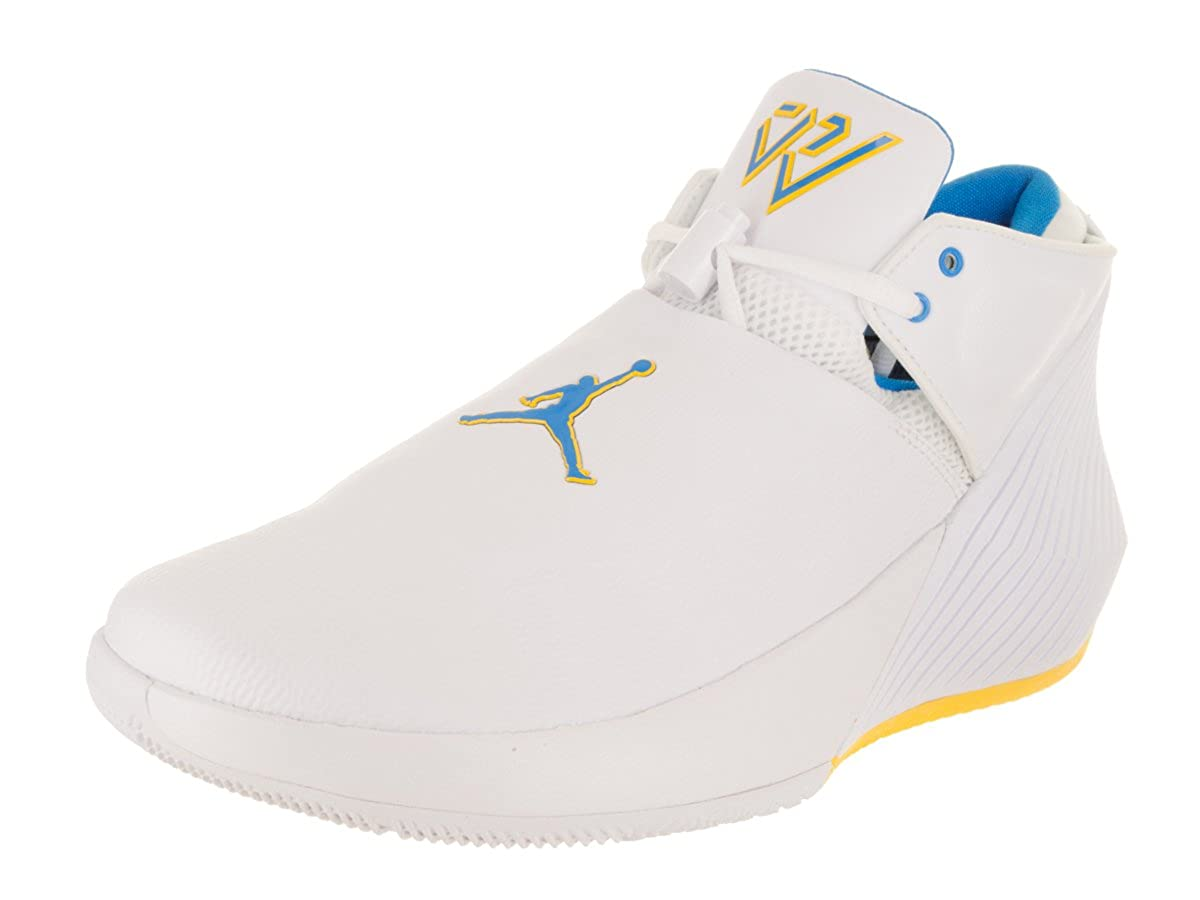 [ジョーダン] メンズ B07FY3YF87 White/Blue Hero/Amarillo 9 M US