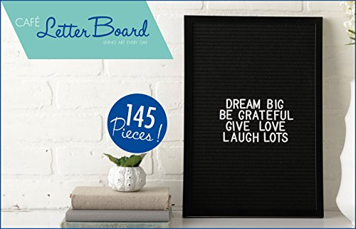 Leisure Arts Inc. Café Black Felt Letter Board -11