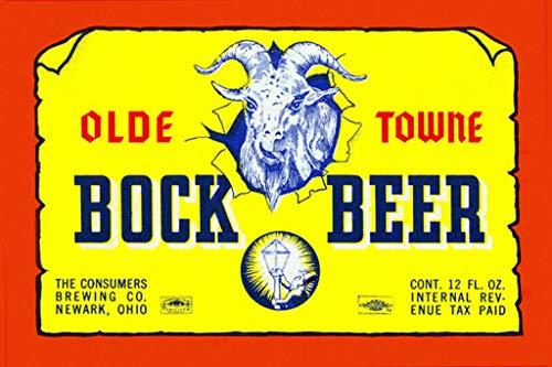 ArtParisienne Olde Towne Bock Beer 16x24-inch Wall Decal