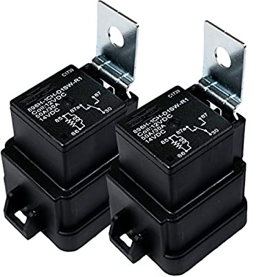 Song Chuan 896H-1CH-D1SW-R1, 12VDC, 50A 12VDC Automotive relay, 12V Form 1C, Dust cover type, skirted cover cover, weather proof version (Pack of 2)
