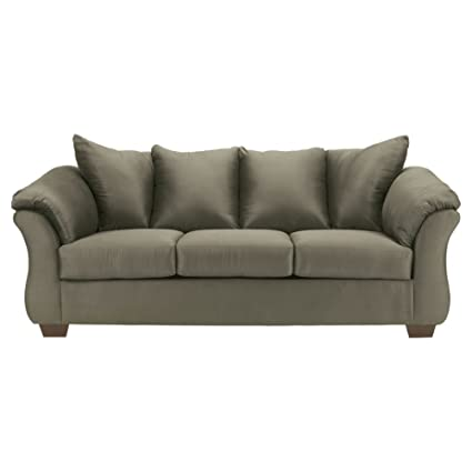 Ashley Furniture Signature Design   Darcy Sofa   Ultra Soft Upholstery    Contemporary   Sage Green