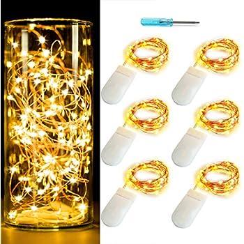Amazon.com: Cadena de luces microled con alambre de cobre ...