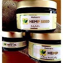 Hemp Soothing Muscle Jelly / Hemp overnight Facial Serum / Hemp Seed Body Butter