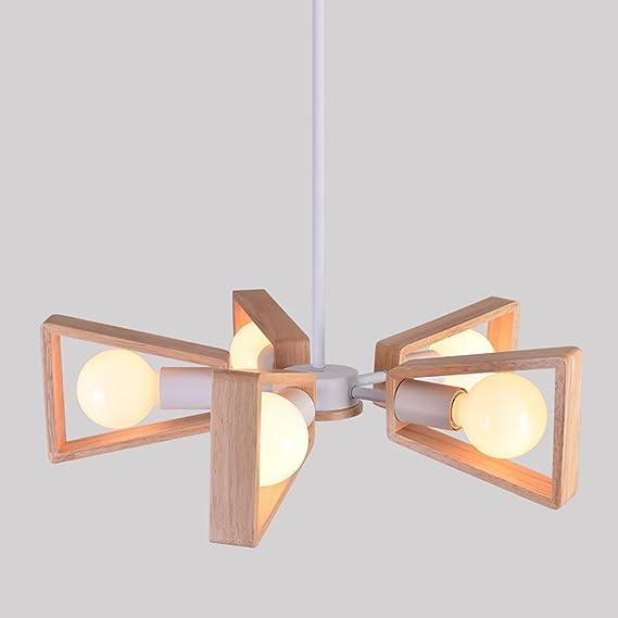 Amazon.com: MJ-266 - Lámpara de techo de madera maciza para ...