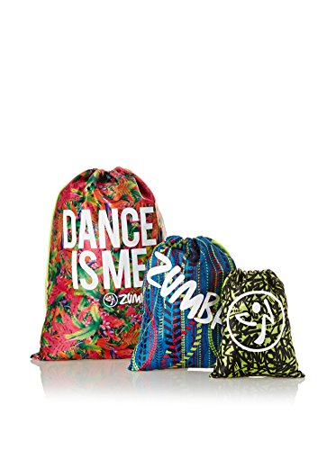 Zumba Fitness Travel Trio Borsa, Multicolore, Misura Unica