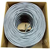 New 1,000 ft bulk Cat6 (CCA) Ethernet Cable / Wire UTP Pull Box 1,000ft Cat-6 (CCA) Grey ~ VIVO (CABLE-V004)