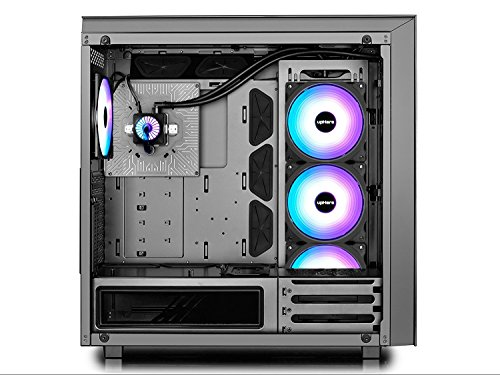 upHere Wireless RGB LED 120mm Case Fan,Quiet Edition High Airflow  Adjustable Color LED Case Fan for PC Cases, CPU Coolers,Radiators