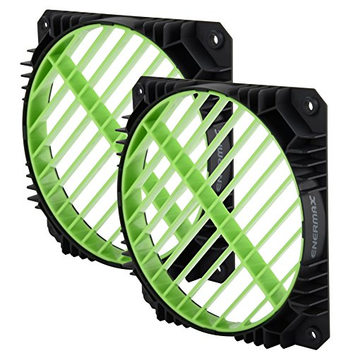 Enermax Air Guide 360° Rotatable Fan Grill, Solution to Airflow Management Twin Pack Green, EAG001-G by Enermax (Image #3)