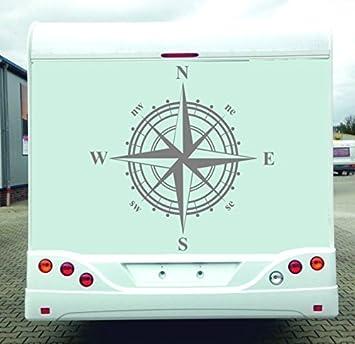 Windrose Aufkleber Für Wohnmobil Wohnwagen Usw Silber