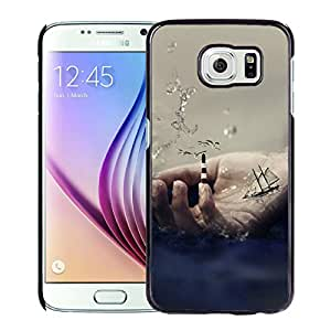 New Beautiful Custom Designed Cover Case For Samsung Galaxy S6 With Sail Ship On Hand Phone Case
