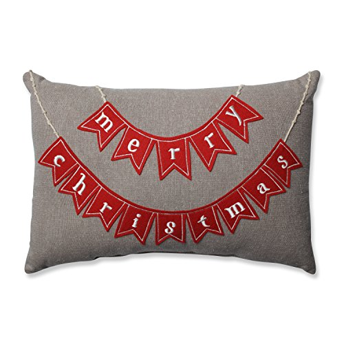 Pillow Perfect Country Home Merry Christmas Red/Biscuit Rectangular Throw Pillow ()