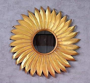 Wandspiegel Barock Spiegel Gold Sonnenspiegel Flammenspiegel Kaminspiegel Antik