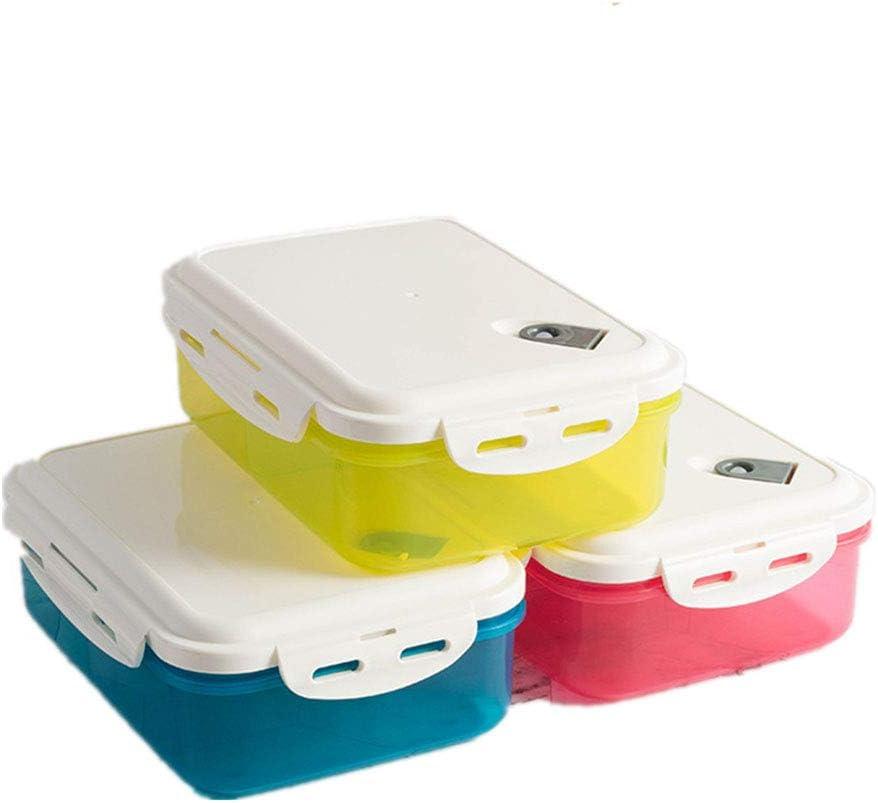 AnchengKAO Cajas Relojes Hombre Contenedores de Almacenamiento de Alimentos de plástico Rosa/Azul / Amarillo de 3 Piezas con Tapa para preservar la Tienda de microondas Estuche Relojero Vitrina Hecho: Amazon.es: Hogar
