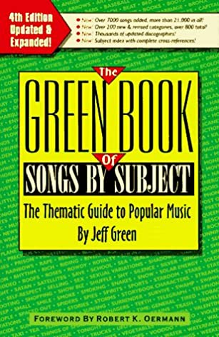 the green book of songs by subject the thematic guide to popular rh amazon com Short Popular Non Fiction Books Popular Non Fiction Book Jackets Books