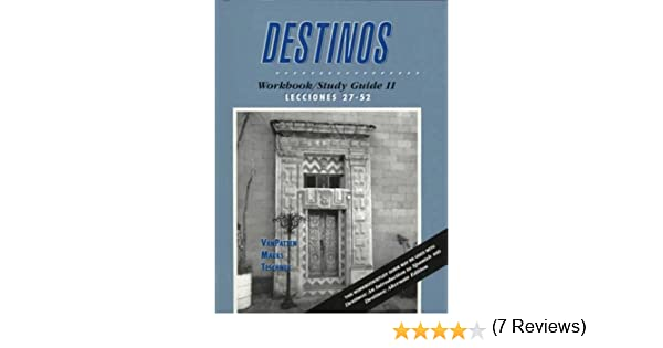 Destinos workbook answers 27 52